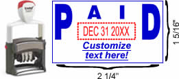"Solid ""Paid"" Formatted Self-Inking Date Stamp"