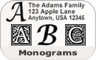 Monogram Rubber Stamps