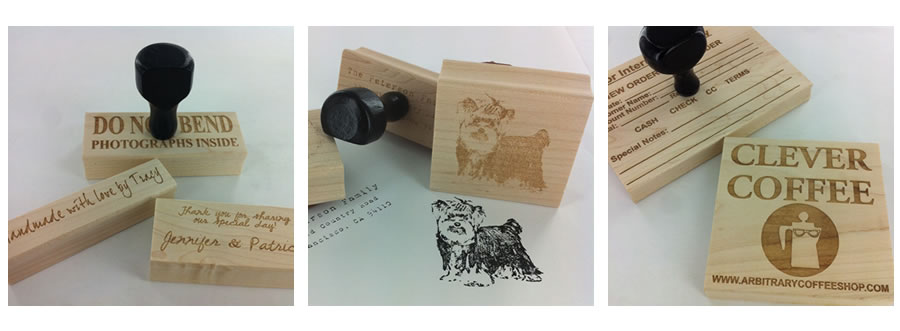 Custom Stamps - Personalized Wood Art-Mounted Stamps