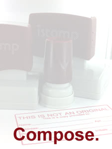 Personalized Signature Stamp - Pre-Inked