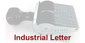 Rotating Letter Stamp with Sample Impression