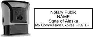 Self-Inking Alaska Notary Stamp with Impression Sample