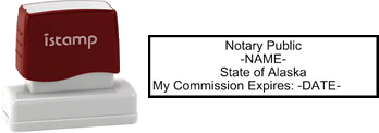 Alaska Notary I-Stamp with Impression Sample
