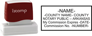 Arkansas Notary I-Stamp with Impression Sample