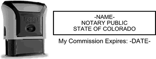 Self-Inking Colorado Notary Stamp with Impression Sample