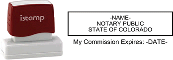 Colorado Notary I-Stamp with Impression Sample