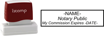 Connecticut Notary I-Stamp with Impression Sample
