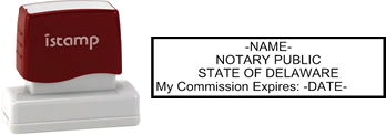 Delaware Notary I-Stamp with Impression Sample