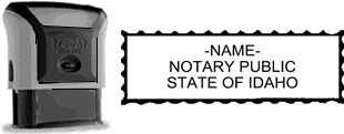 Self-Inking Idaho Notary Stamp with Impression Sample