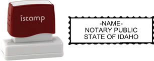 Idaho Notary I-Stamp with Impression Sample