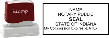 Indiana Notary I-Stamp with Impression Sample