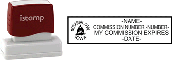 Iowa Notary I-Stamp with Impression Sample