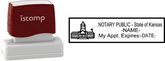 Kansas Notary I-Stamp with Impression Sample