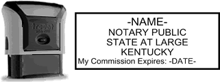 Self-Inking Kentucky Notary Stamp with Impression Sample