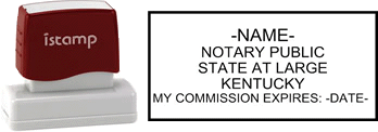 Kentucky Notary I-Stamp with Impression Sample