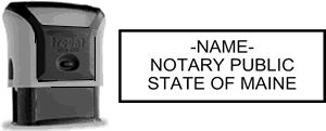 Self-Inking Maine Notary Stamp with Impression Sample