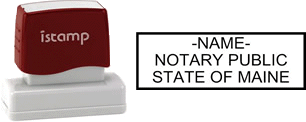 Maine Notary I-Stamp with Impression Sample