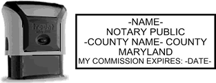 Self-Inking Maryland Notary Stamp with Impression Sample