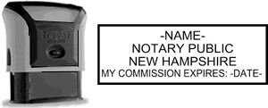 Self-Inking New Hampshire Notary Stamp with Impression Sample