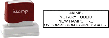 New Hampshire Notary I-Stamp with Impression Sample