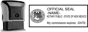 Self-Inking New Mexico Notary Stamp with Impression Sample
