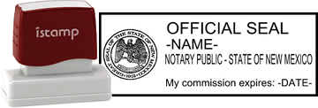 New Mexico Notary I-Stamp with Impression Sample