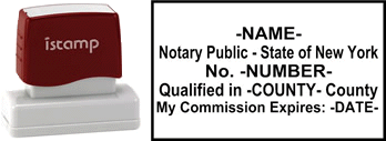 New York Notary I Stamp With Impression Sample
