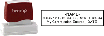 North Dakota Notary I-Stamp with Impression Sample