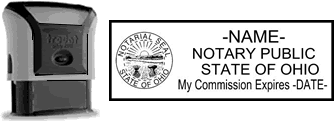 Self-Inking Ohio Notary Stamp with Impression Sample