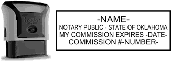 Self-Inking Oklahoma Notary Stamp with Impression Sample