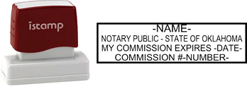 Oklahoma Notary I-Stamp with Impression Sample