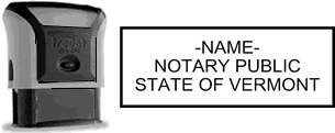Self-Inking Vermont Notary Stamp with Impression Sample