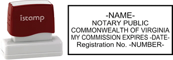 Virginia Notary I-Stamp with Impression Sample