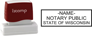Wisconsin Notary I-Stamp with Impression Sample