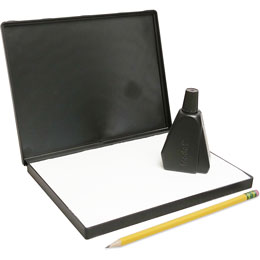 "Purchase an extra large (6"" x 8"") stamp pad with black, blue, red green or violet ink for rubber stamping and scrapbooking"