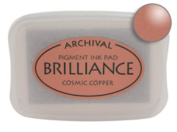 Brilliance Cosmic Copper Stamp Ink Pad