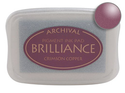 Brilliance Crimson Copper Stamp Ink Pad