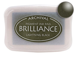 Brilliance Lightning Black Stamp Ink Pad