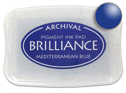 Brilliance Mediterranean Blue Stamp Ink Pad