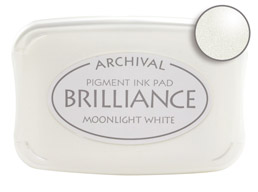 Brilliance Moonlight White Stamp Ink Pad