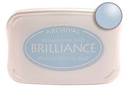 Brilliance Ice Blue Stamp Ink Pad
