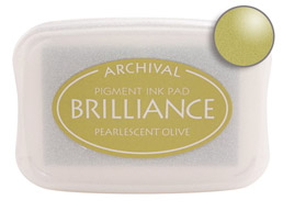 Brilliance Olive Stamp Ink Pad