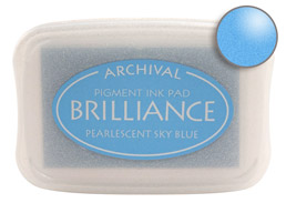 Brilliance Sky Blue Stamp Ink Pad