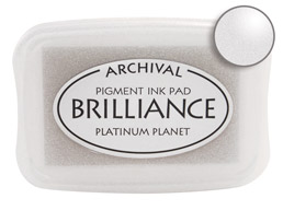 Brilliance Platinum Ink - Stamp pad