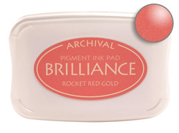 Brilliance Rocket Red Gold Stamp Ink Pad