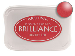 Brilliance Rocket Red Stamp Ink Pad