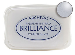 Brilliance Starlite Silver Stamp Ink Pad