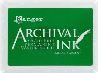 "Archival Large 4x6"" Emerald Green Pad"