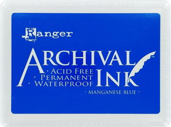 "Archival Large 4x6"" Manganese Blue Pad"
