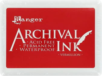 "Archival Large 4x6"" Vermillion Red Pad"